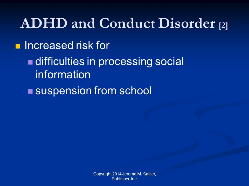 ADHD and Conduct Disorder [2]